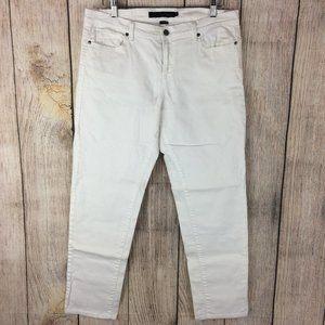 Calvin Klein White Boyfriend Stretch Jeans Sz 10
